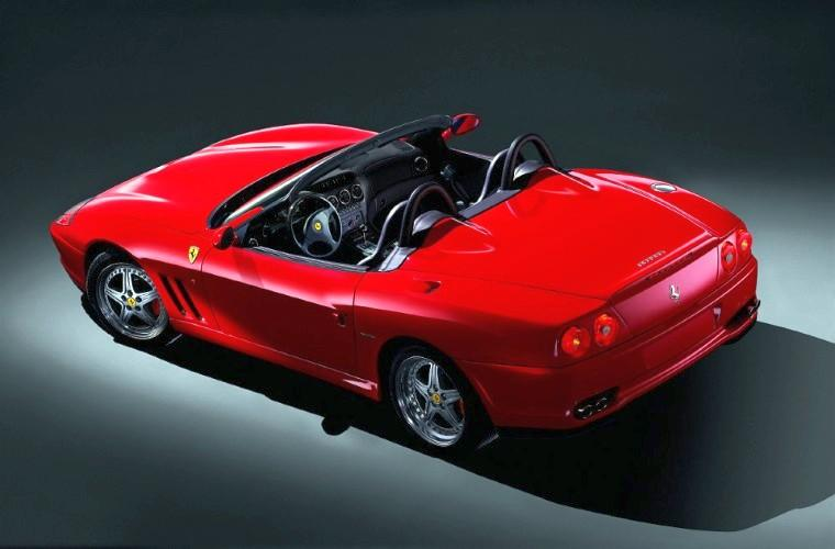 Rear Left Ferrari 550 Barchetta Car Picture