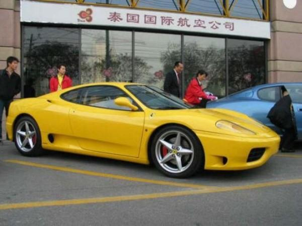 Front Right Yellow Ferrari 360 Modena (China) Car Picture