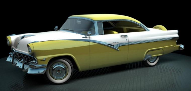 Front Left 1956 Ford Fairlane Victoria Car Picture