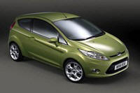 Front Right 2009 Ford Fiesta Car Picture