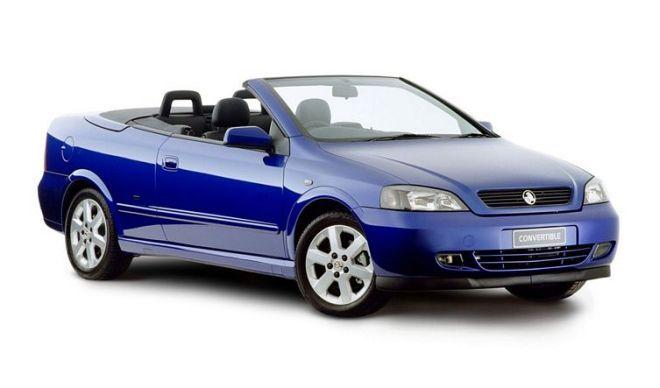Front Right Blue 2005 Holden Astra Convertible Car Picture
