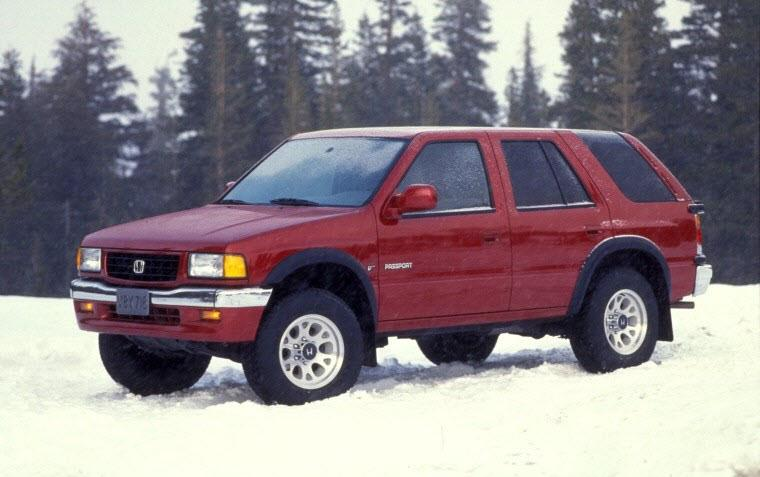 Front Left Red 1995 Honda Passport EX SUV Picture