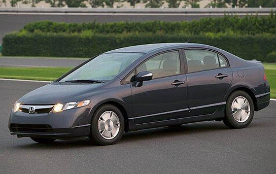 Front left Black 2007 Honda Civic Hybrid Car Picture