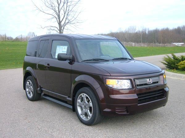 Front Right Maroon 2007 Honda Element Car Picture