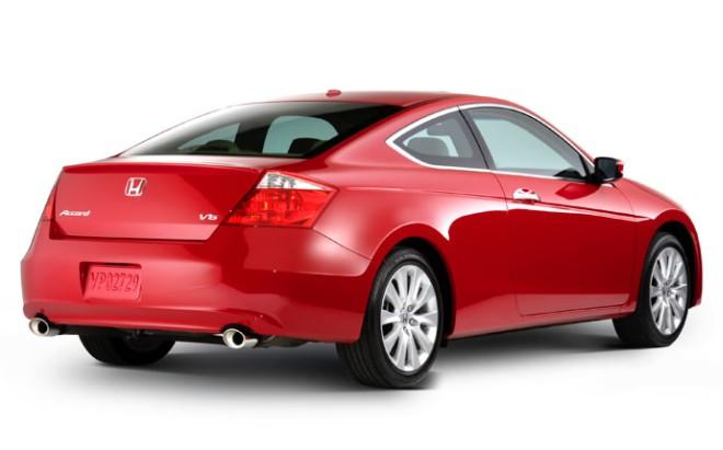 Rear Right Red 2008 Honda Accord Coupe Car Picture