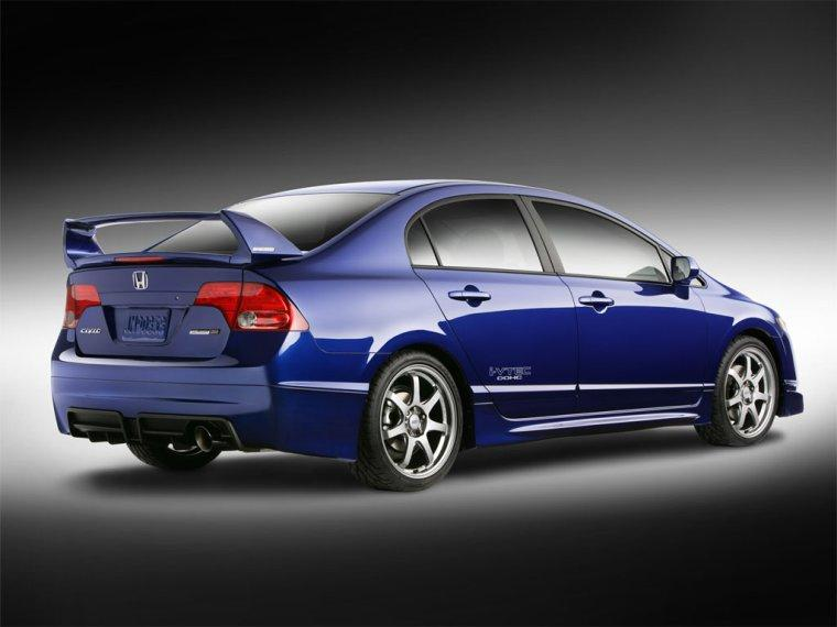 Rear Right Blue 2008 Honda Mugen Si Car Picture