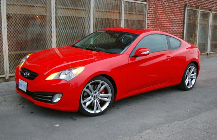Front Left Red 2010 Hyundai Genesis Car Picture