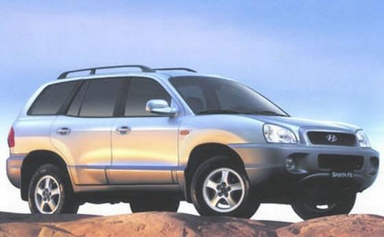 Front Right Gray 2000 Hyundai Santa Fe Car Picture
