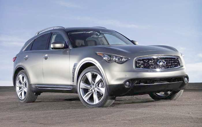 Front Right Silver 2010 Infiniti FX CUV Picture