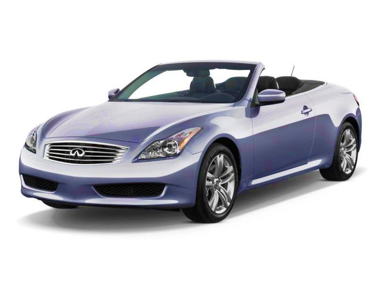 Front Left Purple 2011 Infiniti G37 Convertible Car Picture