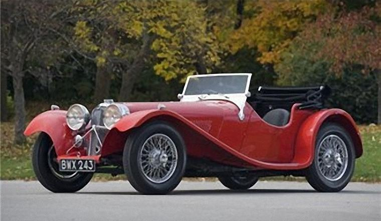 1937 Jaguar SS100 Roadster Car Picture