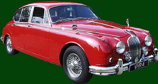 Front Right Red 1963 Jaguar MKII Car Picture