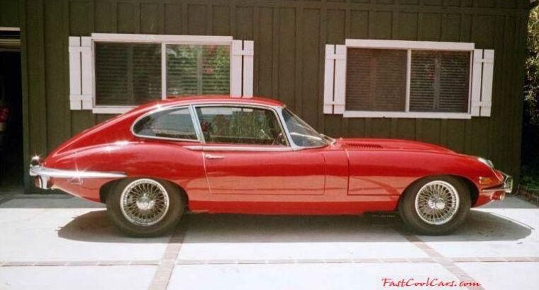 Right Side Red 1970 Jaguar XKE Car Picture