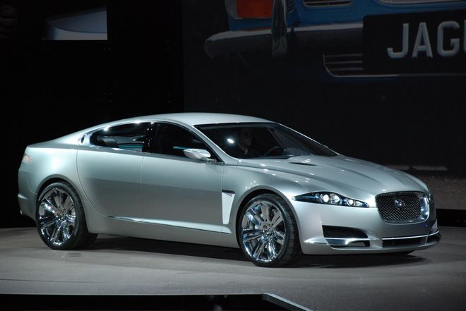 Front Right Jaguar C-XF Concept Car Picture