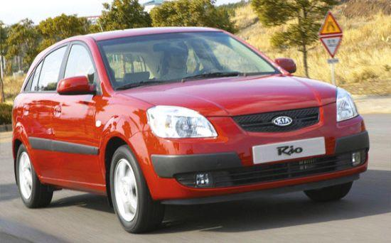 Front Right Red 2006 Kia Rio Car Picture