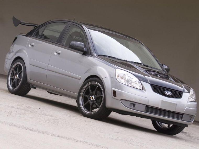Front Right 2006 Kia Rio Silver Streak Car Picture