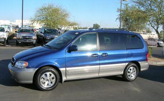 Left Side 2004 Kia Sedona Van Picture
