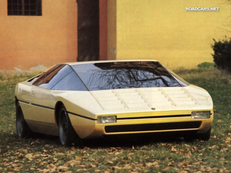 Front Right Yellow 1974 Lamborghini Bertone Car Snapshot