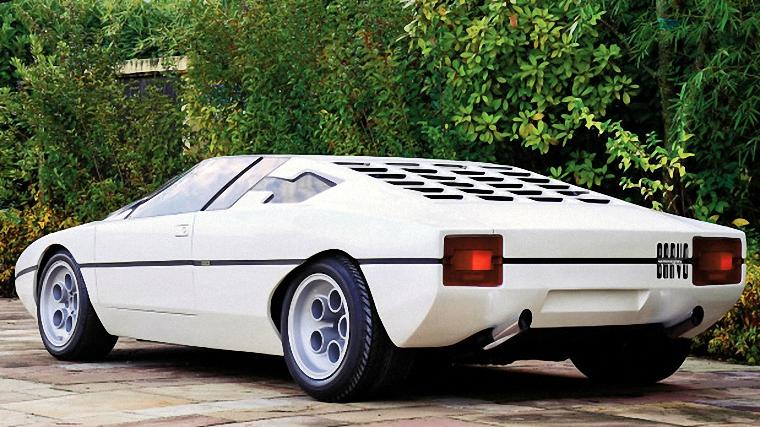 Rear Left White 1974 Lamborghini Bravo Car Picture