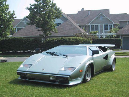 Front left Gray Lamborghini Countach Car Picture
