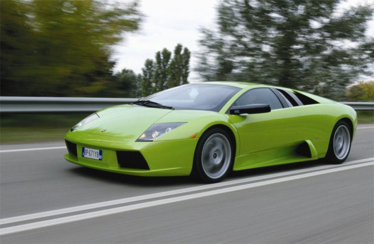 Front left Green 2006 Lamborghini Murcielago Car Picture