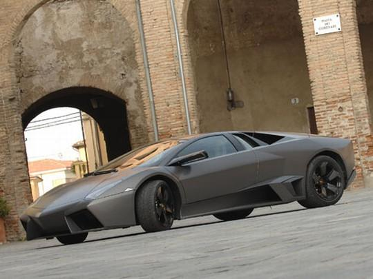 Front left Gray 2008 Lamborghini Reventon Car Picture