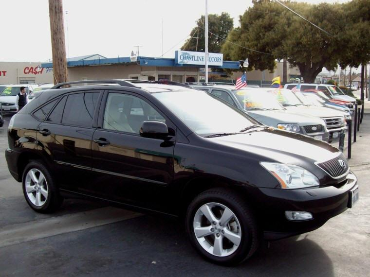 Right Side Black 2007 Lexus RX 350 CUV Picture