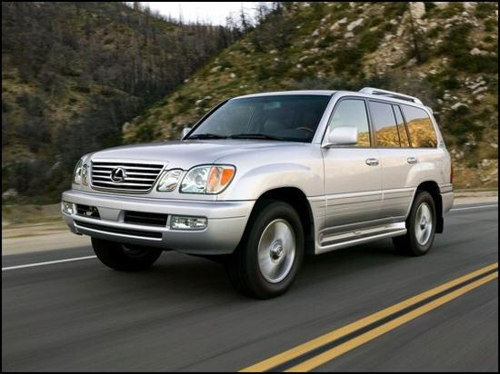 Front left Silver 2006 Lexus LX470 SUV Picture