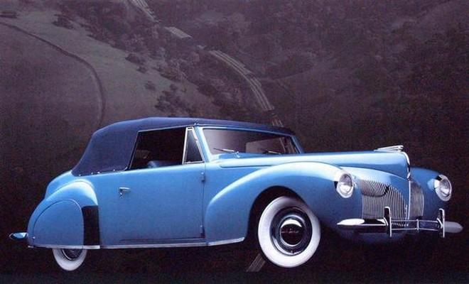 Front Right Blue 1940 Lincoln Continental Car Picture