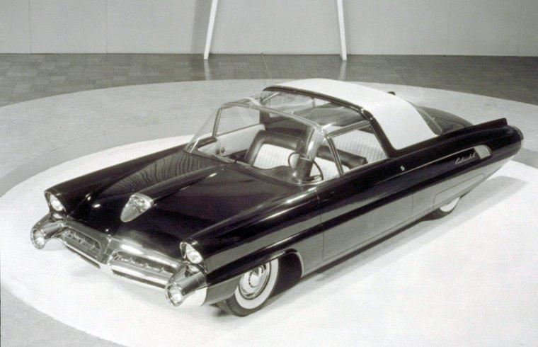 Top View Black 1950 Lincoln Continental Concept Car Picture