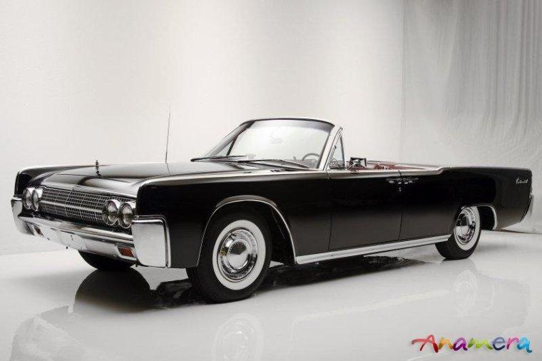 Front left 1963 Lincoln Continental Convertible Car Picture