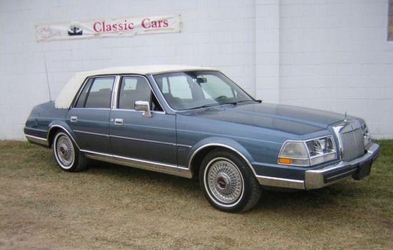 Front Right Blue 1985 Lincoln Continental Car Picture