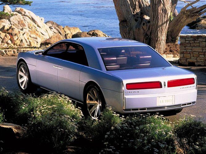 Rear left Silver 2000 Lincoln Continental Concept Car Picture