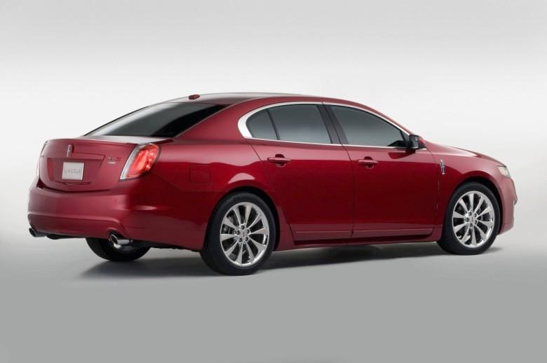Rear Right Red 2010 Lincoln MKS Ecoboost Car Picture