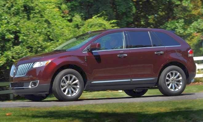 Front Left Maroon 2011 Lincoln MKX5 SUV Picture