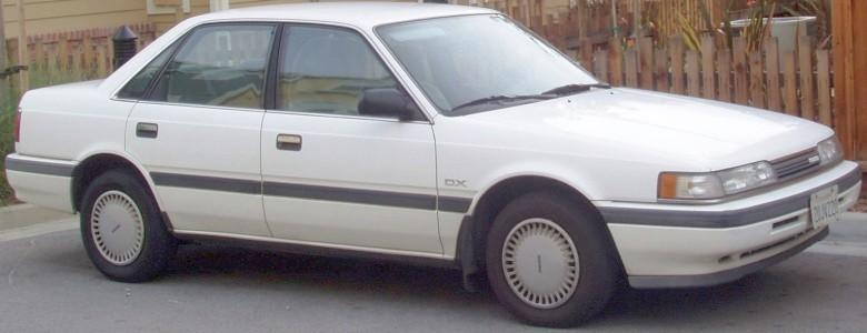 Front Right White 1990 Mazda 626 Car Picture