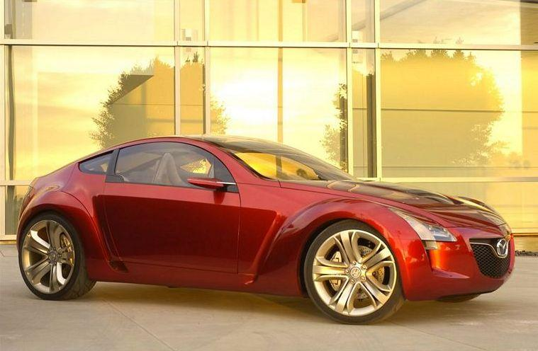 Front Right Red 2006 Mazda Kabura Concept Car Picture