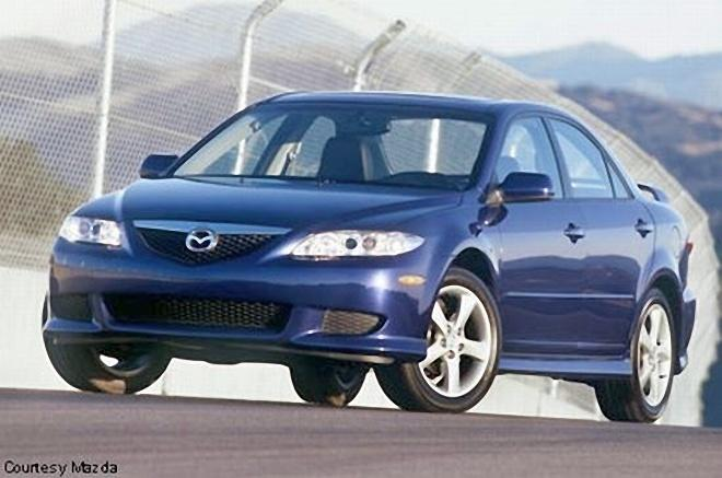 Front Left Blue Mazda Mazda6 Car Picture