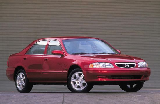 Front Right Maroon 2001 Mazda 626 Car Picture