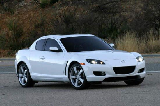 Front Right White 2005 Mazda RX-8 Car Picture