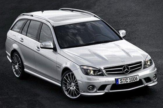 Front Right Gray 2008 Mercedes-Benz C63 AMG Car Picture