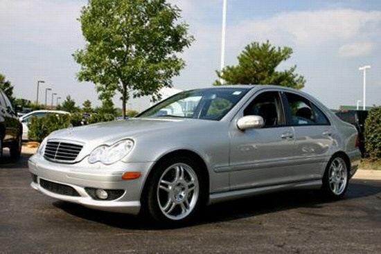 Front left Silver 2002 Mercedes-Benz C32AMG Car Picture