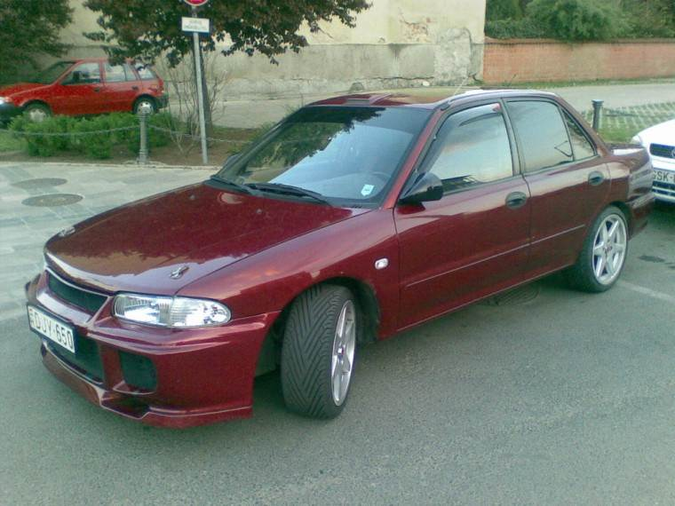 Front Left Maroon 1993 Mitsubishi Lancer Car Picture