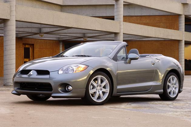 Front left Gray 2007 Mitsubishi Eclipse Spyder Car Picture
