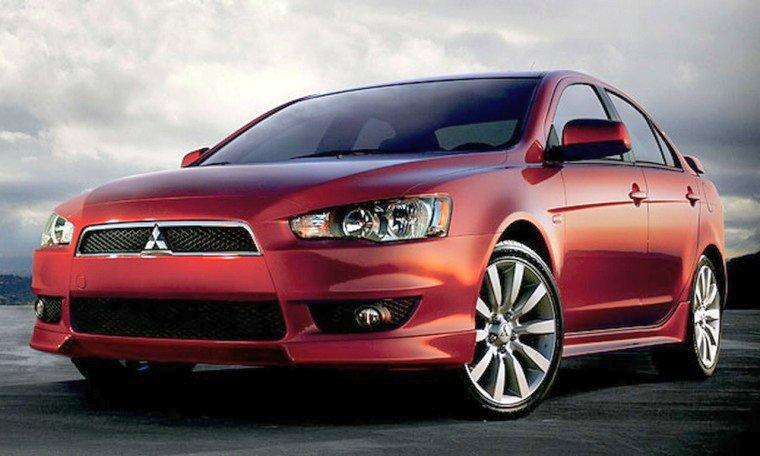 Front left Red 2008 Mitsubishi Lancer Car Picture