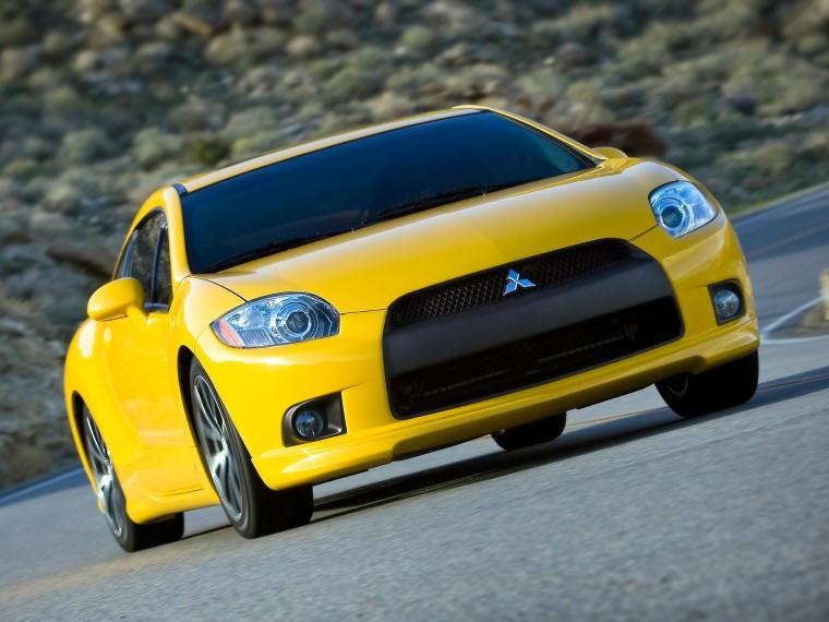 Front Right Yellow 2009 Mitsubishi Eclipse GT Car Picture
