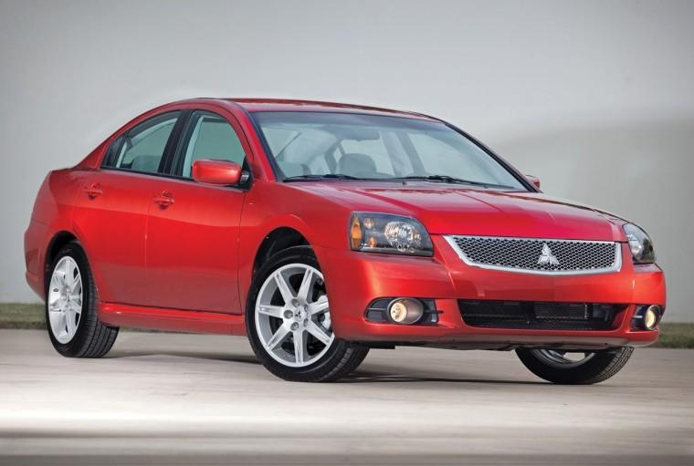 Front Right Red 2010 Mitsubishi Galant Car Picture