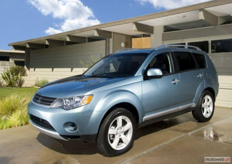 Front left Blue 2007 Mitsubishi Outlander SUV Picture