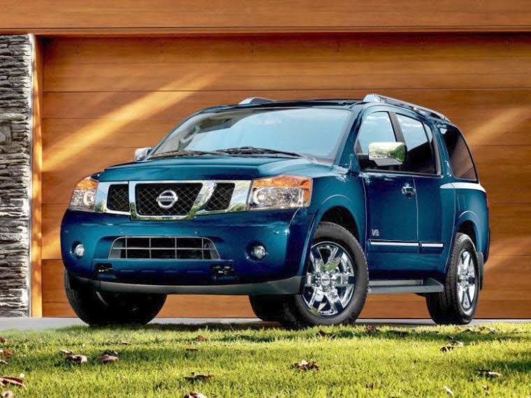 Front Left Blue 2010 Nissan Armada SUV Picture