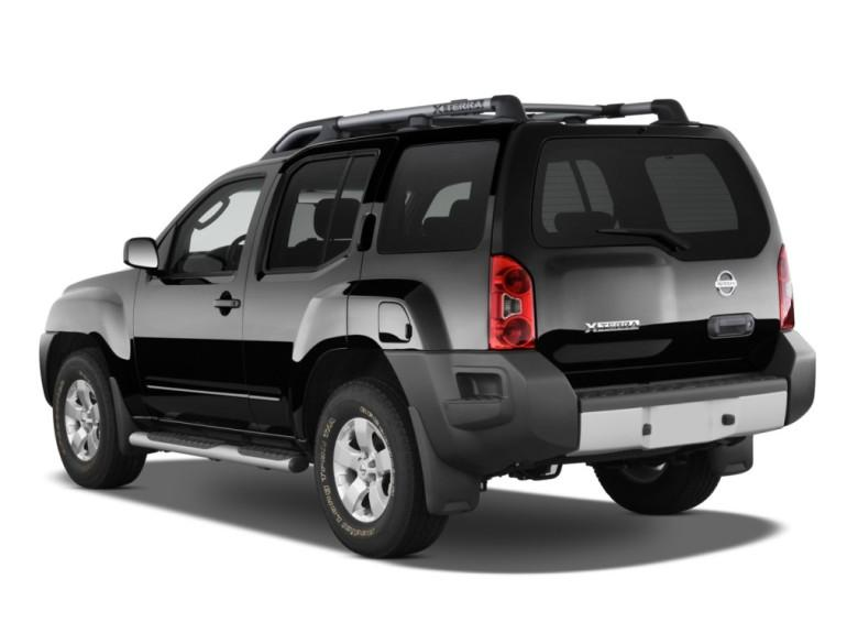 Rear Left Black 2011 Nissan xTerra SUV Picture